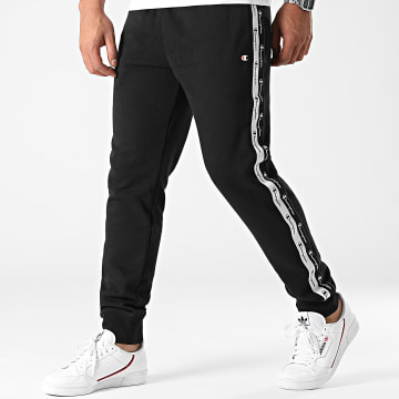 Champion - Pantalon Jogging A Bandes 216561 Noir