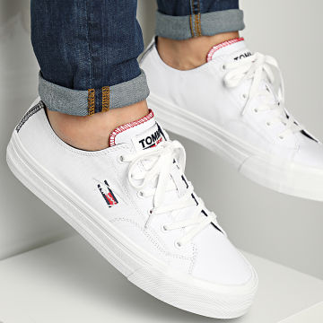 Tommy Jeans - Baskets Long Lace Vulcanized 0802 White