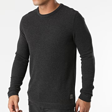 BOSS - Pull Tempest 50462773 Gris Anthracite Chiné