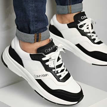 Calvin Klein - Baskets Low Top Lace Up 0309 White Black