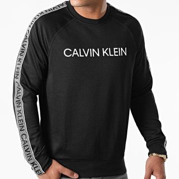 Calvin Klein - Sweat Crewneck A Bandes GMF1W300 Noir