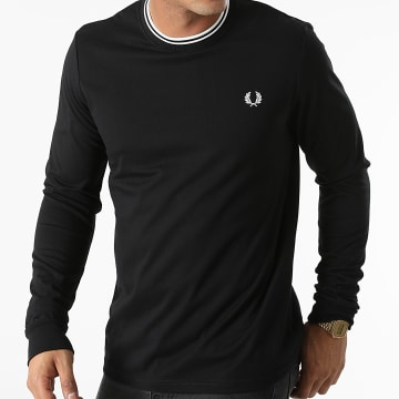 Fred Perry - Tee Shirt Manches Longues Twin Tipped M9602 Noir