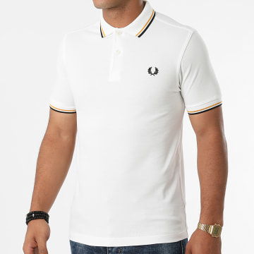 Fred Perry - Polo Manches Courtes Twin Tipped M3600 Blanc