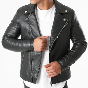Kymaxx - Veste Biker 5037 Noir