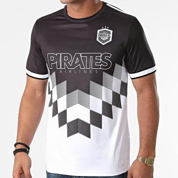La Piraterie - Tee Shirt Team Blanc Noir
