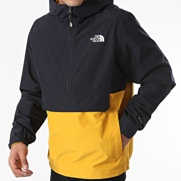The North Face - Coupe-Vent A558H Bleu Marine Moutarde