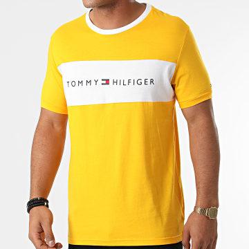 Tommy Hilfiger - Tee Shirt CN Logo Flag 1170 Jaune