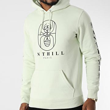 Anthill - Sweat Capuche Outline Vert Pastel Noir