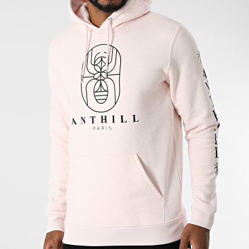 Anthill - Sweat Capuche Outline Rose Pastel Noir