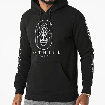 Anthill - Sweat Capuche Outline Noir Blanc