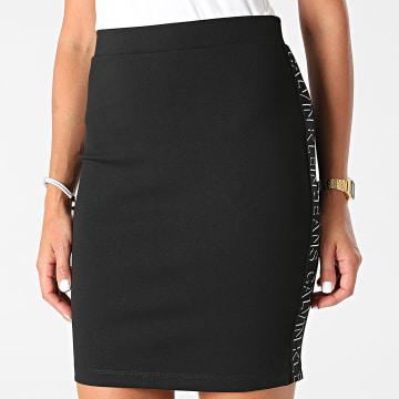 Calvin Klein - Jupe Femme Milano Logo Elastic 6673 Noir
