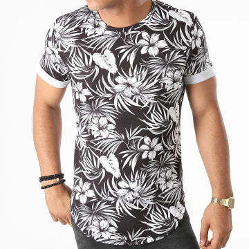Frilivin - Tee Shirt Oversize Floral Y5454 Noir