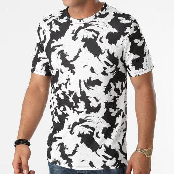 Frilivin - Tee Shirt 15272 Blanc Noir