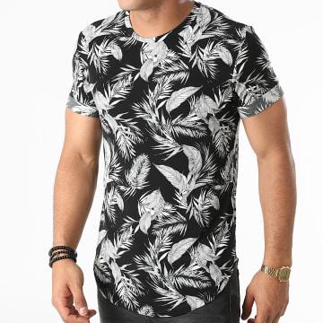 Frilivin - Tee Shirt Oversize U5987 Noir Blanc