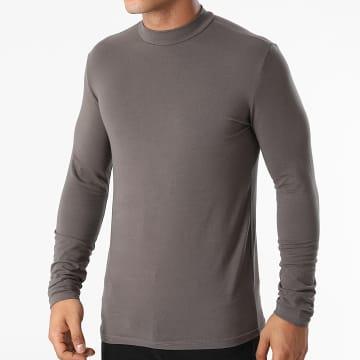Frilivin - Tee Shirt Manches Longues BM1311 Gris Anthracite