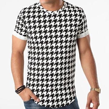 Frilivin - Tee Shirt Oversize U5116 Blanc Noir