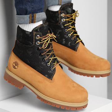 Timberland - Boots 6 Inch Heritage Waterproof A2KJZ Wheat Nubuck Camo