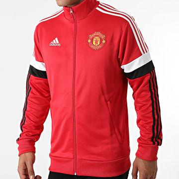 Adidas Performance - Veste Zippée A Bandes Manchester United GR3887 Rouge