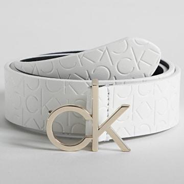 Calvin Klein - Ceinture Femme Re-Lock 8617 Blanc