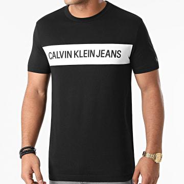 Calvin Klein - Tee Shirt Institutional Blocking Panel 5283 Noir