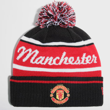 Manchester United - Bonnet Wordmark Bobble Cuff 60143408 Manchester United Noir Rouge