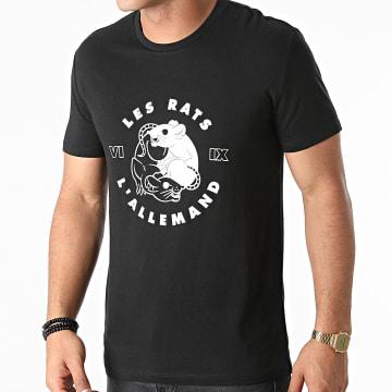 L'Allemand - Tee Shirt Les Rats Noir Blanc