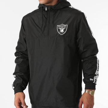 New Era - Coupe-Vent Col Zippé A Bandes Las Vegas Raiders 12827122 Noir