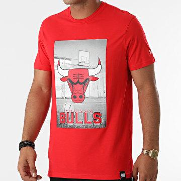 New Era - Tee Shirt Chicago Bulls NBA Photographic 12827209 Rouge