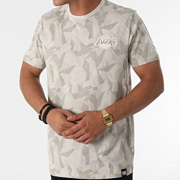 New Era - Tee Shirt Los Angeles Lakers 12827266 Beige