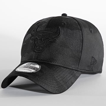 New Era - Casquette Fitted 39Thirty Black Camo 60141498 Chicago Bulls Noir