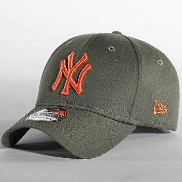 New Era - Casquette Fitted 39Thirty League Essential 60141660 New York Yankees Vert Kaki