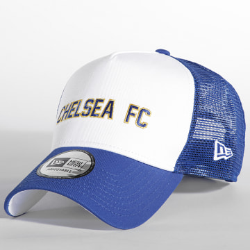 New Era - Casquette Trucker Wordmark 60143371 Chelsea FC Bleu Roi Blanc
