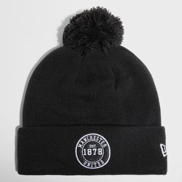 New Era - Bonnet Round Logo Bobble 60143406 Manchester United Noir