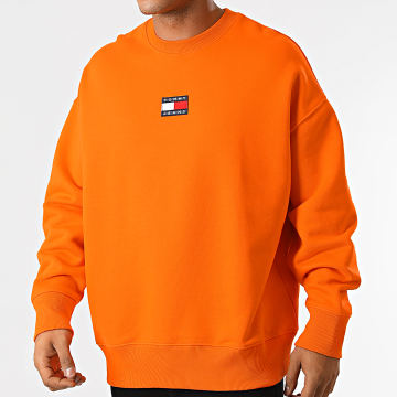 Tommy Jeans - Sweat Crewneck Tommy Badge 0911 Orange