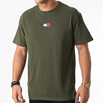 Tommy Jeans - Tee Shirt Tommy Badge 0925 Vert Kaki