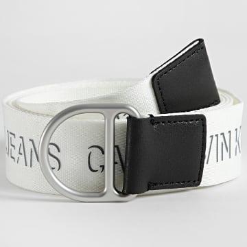 Calvin Klein - Ceinture Slider D-Ring Webbing 7245 Blanc