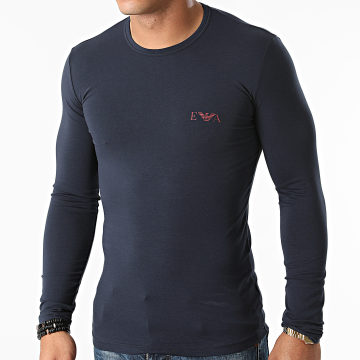 Emporio Armani - Tee Shirt Manches Longues 111023-1A715 Bleu Marine