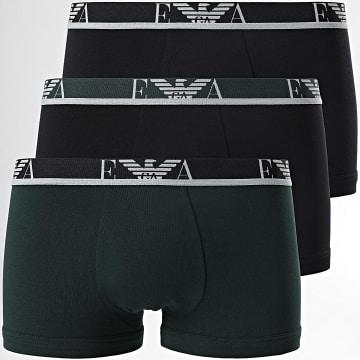 Emporio Armani - Lot De 3 Boxers 111357-1A715 Noir Vert