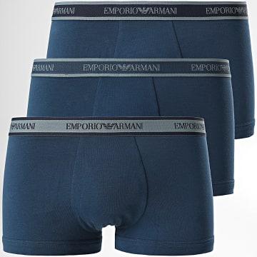 Emporio Armani - Lot De 3 Boxers 111357-1A717 Bleu Marine