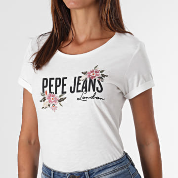 Pepe Jeans - Tee Shirt Femme Patience Blanc