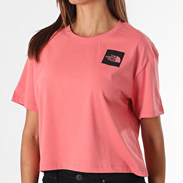 The North Face - Tee Shirt Crop Femme A4SY9 Corail
