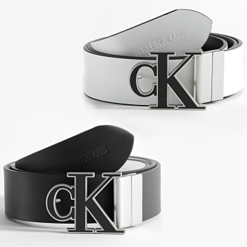 Calvin Klein - Ceinture Réversible Adjustable Mono Hardware 7243 Noir Blanc