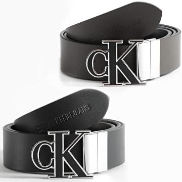 Calvin Klein - Ceinture Réversible Adjustable Mono Hardware 7243 Noir Marron