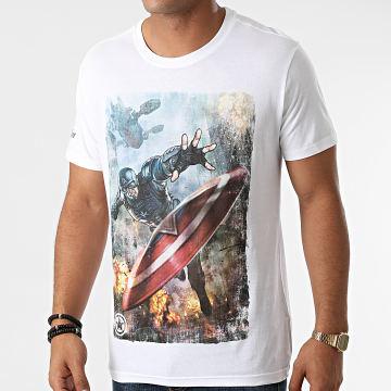 Captain America - Tee Shirt Captain America Blanc