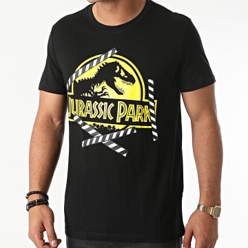 Jurassic Park - Tee Shirt Logo Noir Jaune