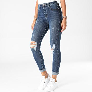 Girls Outfit - Jean Skinny Femme B1021 Bleu Denim
