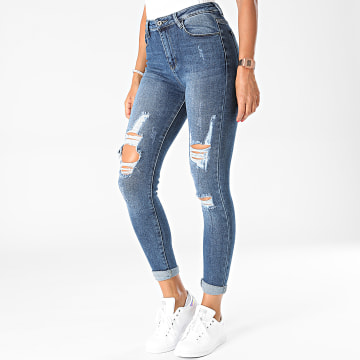 Girls Outfit - Jean Skinny Femme B1022 Bleu Denim