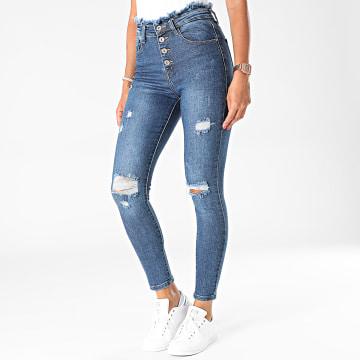 Girls Outfit - Jean Skinny Femme B1118 Bleu Denim