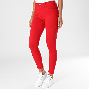Girls Outfit - Jean Skinny Femme A200 Rouge