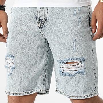 GRJ Denim - Short Jean 14928 Bleu Wash